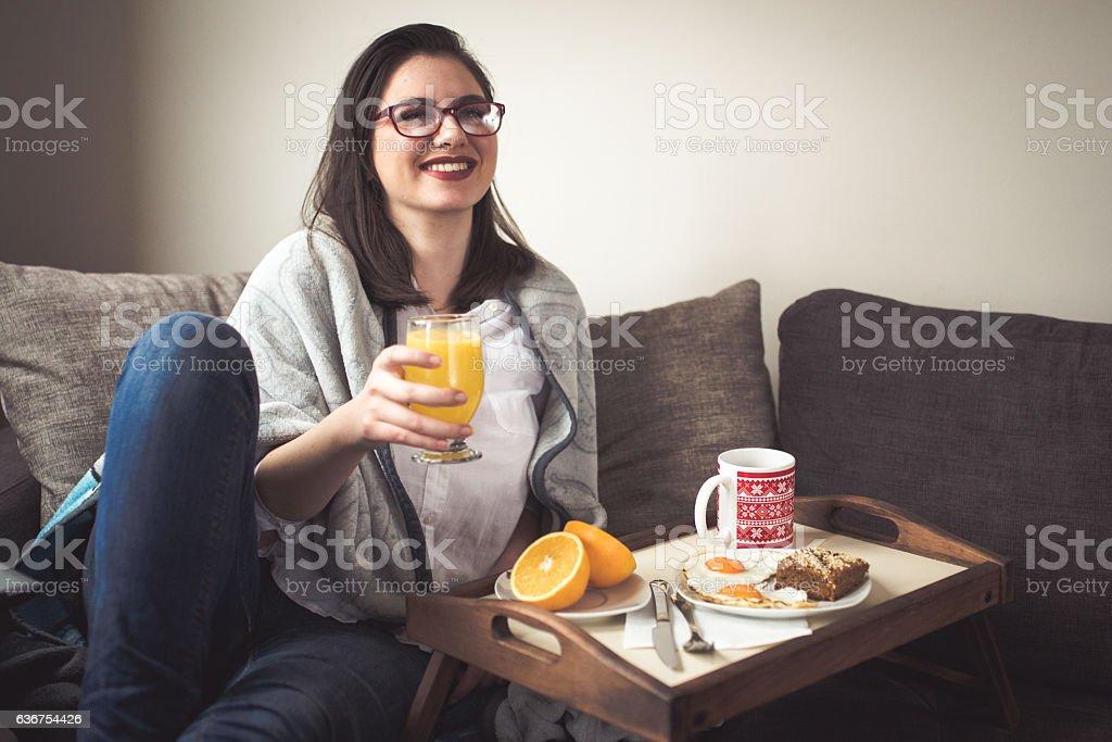 Morning love stock photo