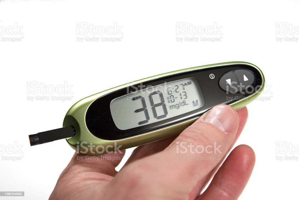 Morning Low Glucose Monitor royalty-free stock photo