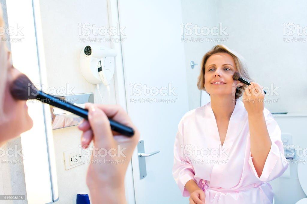 Morning make-up stock photo