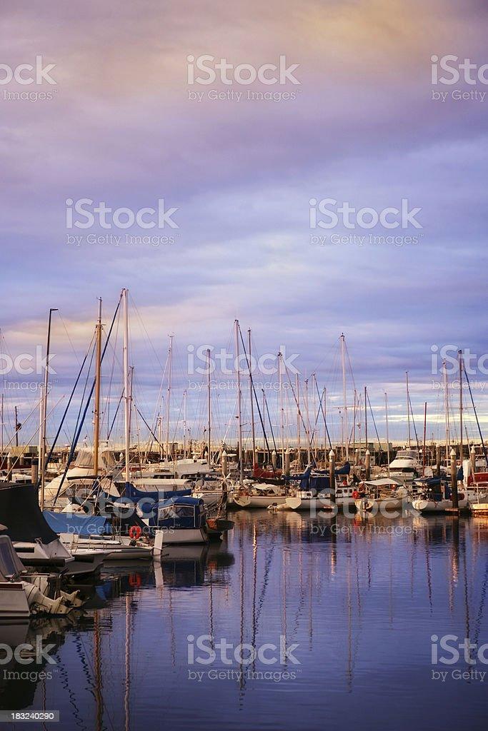 Morning Marina royalty-free stock photo