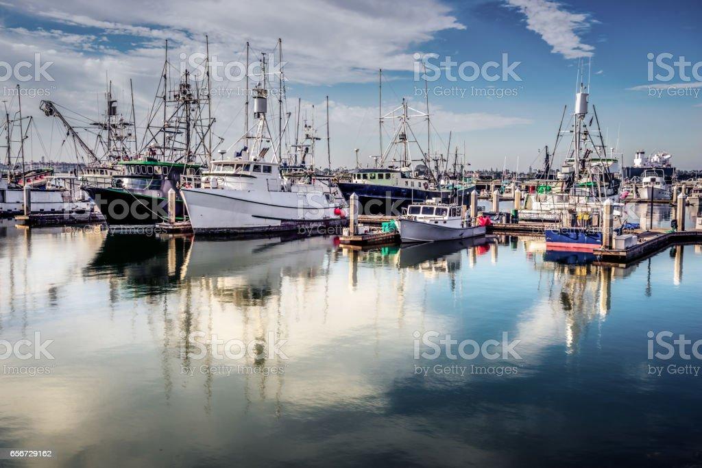 Morning Marina stock photo
