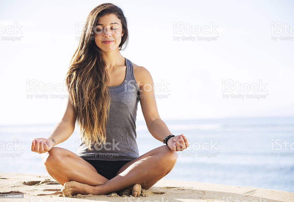 Morning Meditation royalty-free stock photo