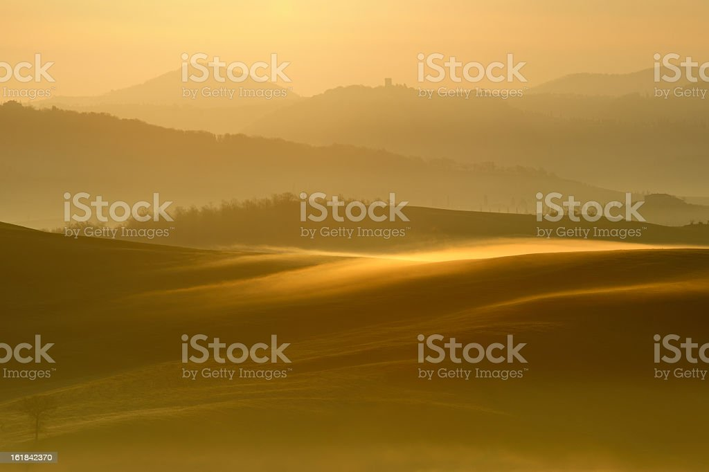 Morning Mist, Tuscany royalty-free stock photo