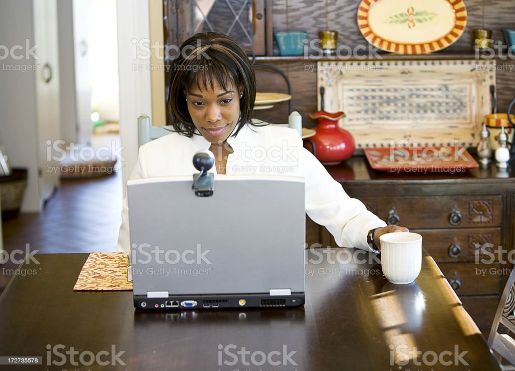 Morning news and coffee stock photo