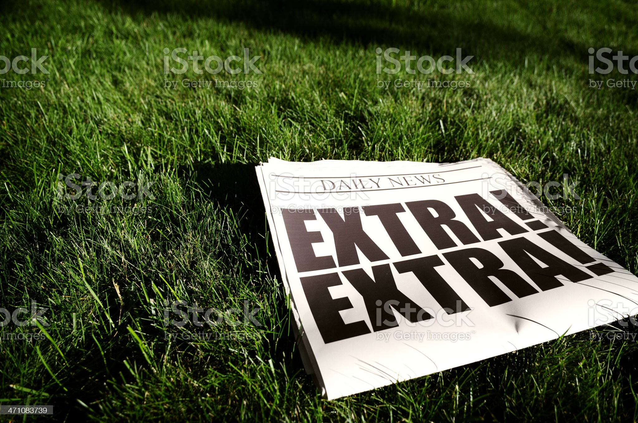 Morning News on Grass royalty-free stock photo