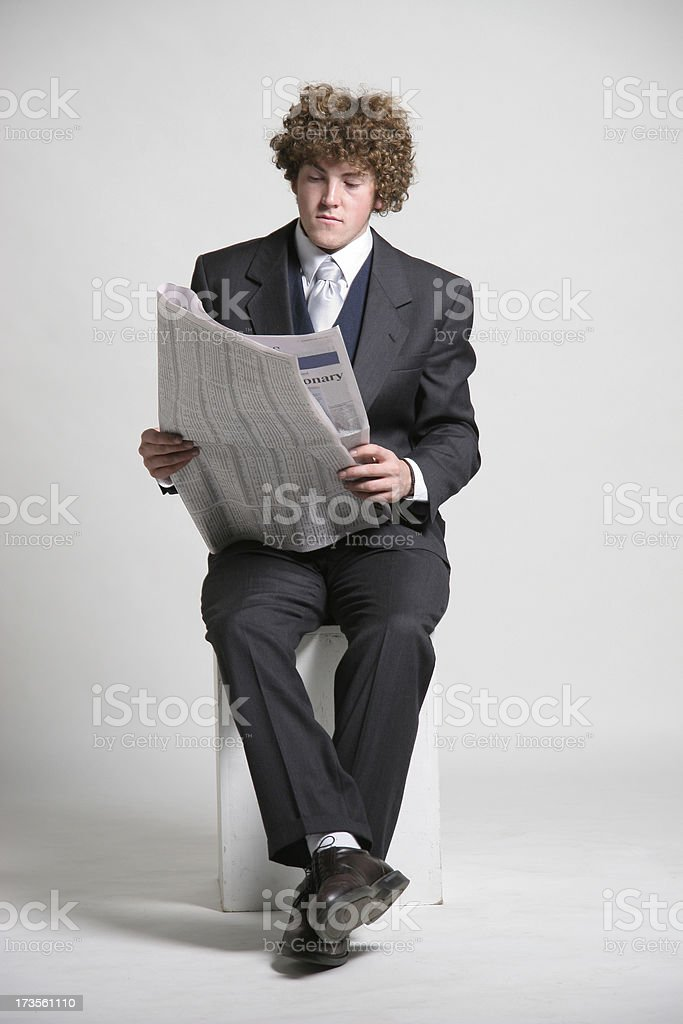 Morning news royalty-free stock photo