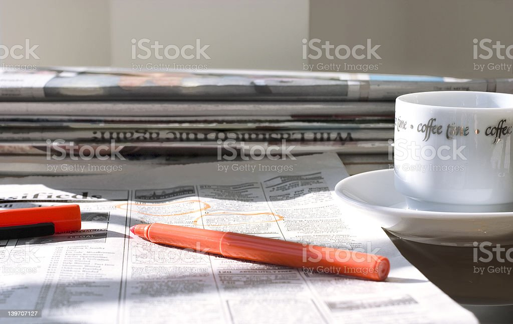 morning newspapers royalty-free stock photo