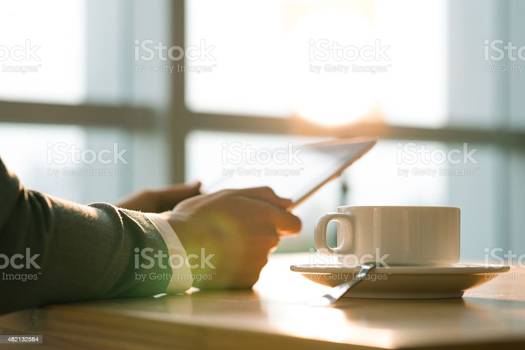 Morning of new day stock photo
