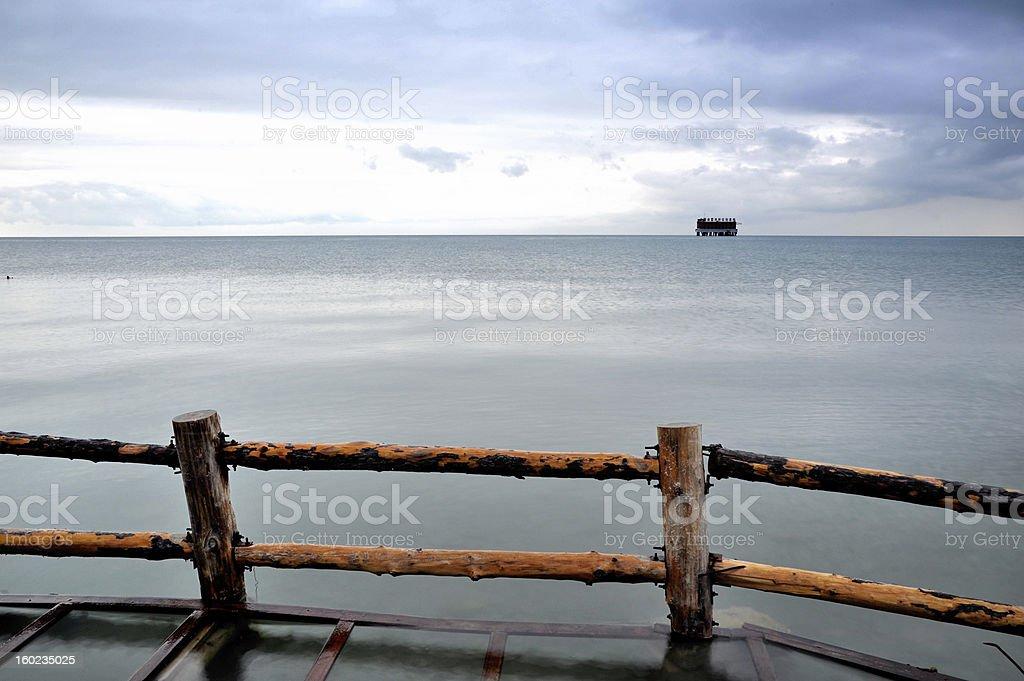 morning of Qinghai Lake stock photo