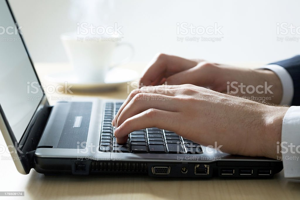 Morning of the businessman royalty-free stock photo