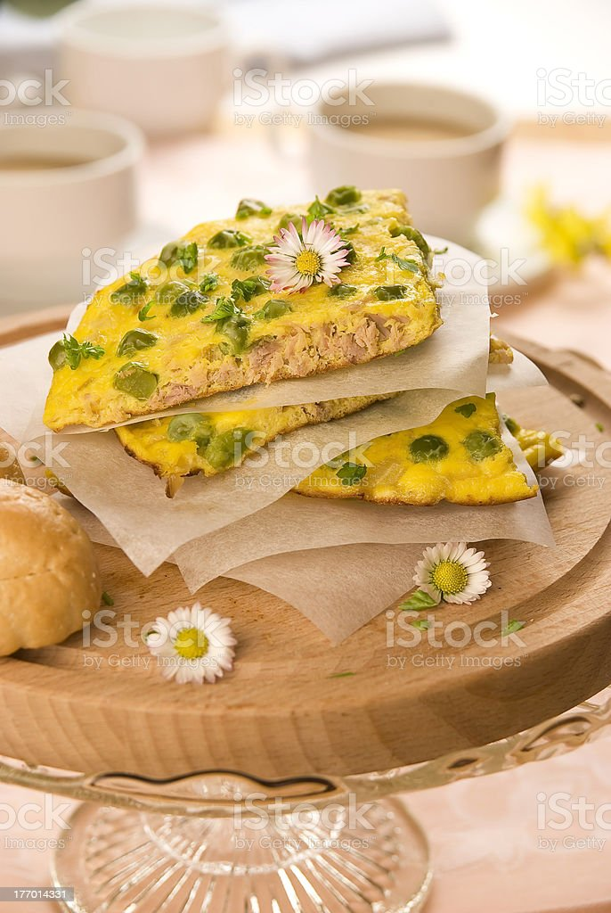 Morning omelette royalty-free stock photo