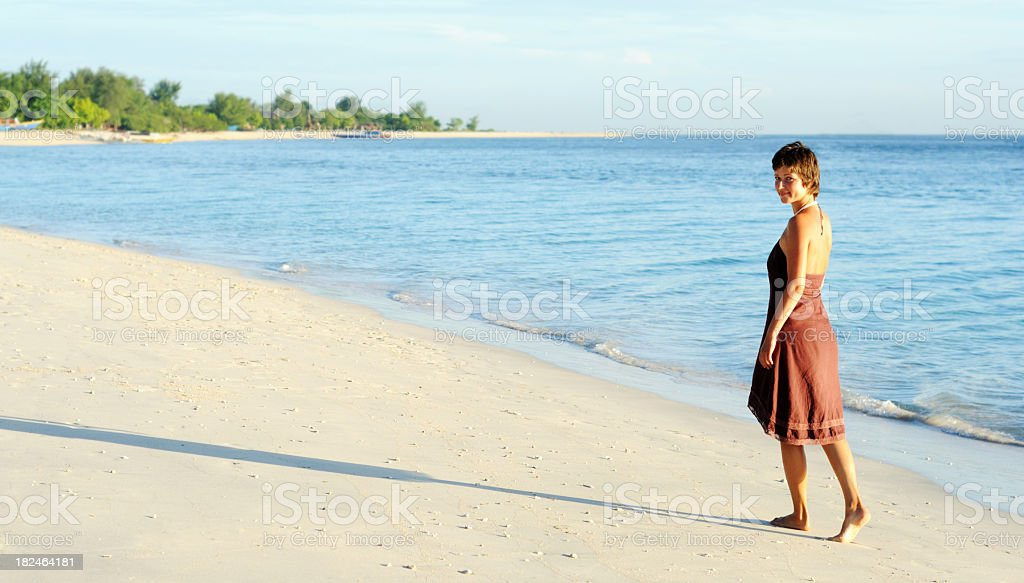 morning on a beach royalty-free stock photo
