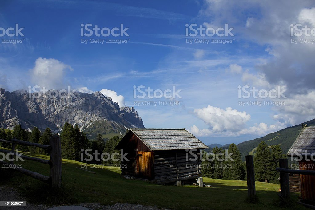 Morning on Dolomiti stock photo