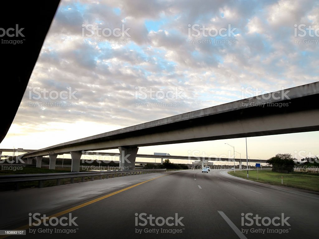morning on highway in Miami royalty-free stock photo