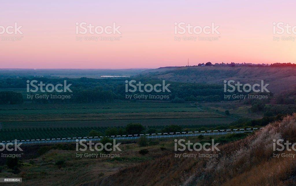 Morning on Kuban hills royalty-free stock photo