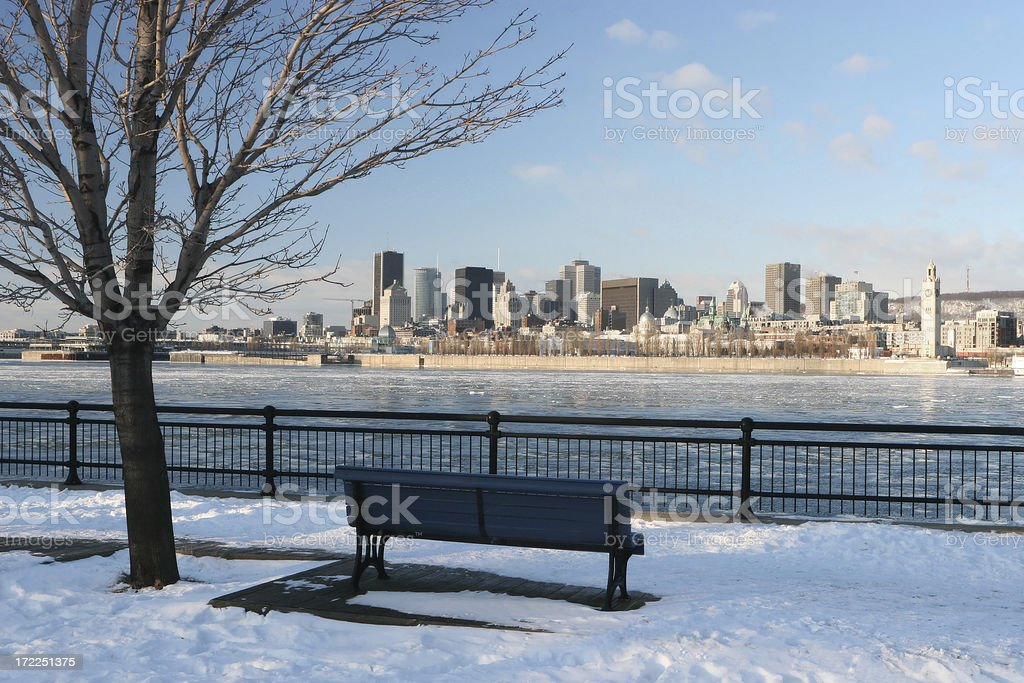 Morning on Montreal City in Winter royalty-free stock photo