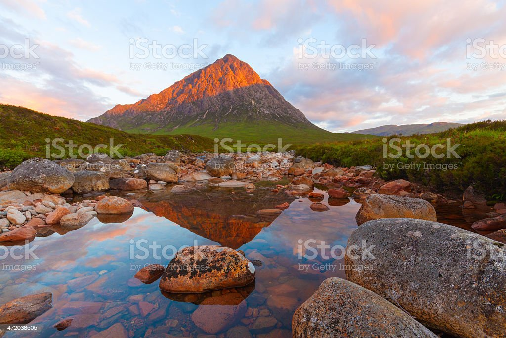 Morning on Rannoch Moor. stock photo