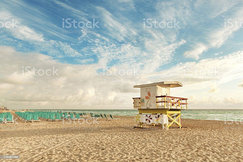 Morning on South Beach Miami Florida royalty-free stock photo