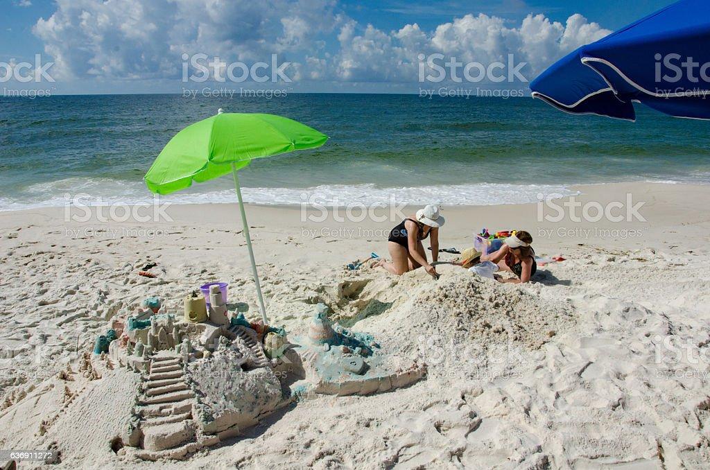 Morning on the Beach stock photo