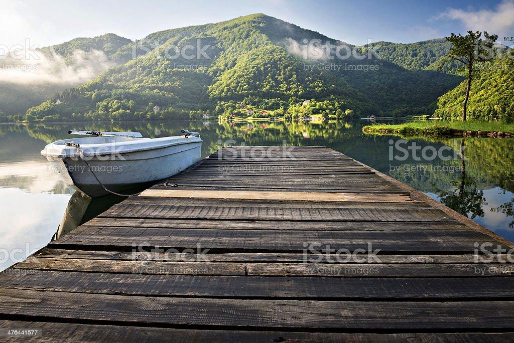 morning on the lake royalty-free stock photo