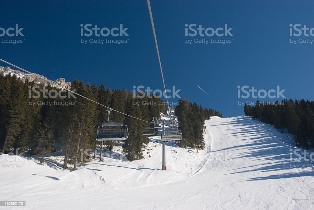 Morning on the slopes royalty-free stock photo