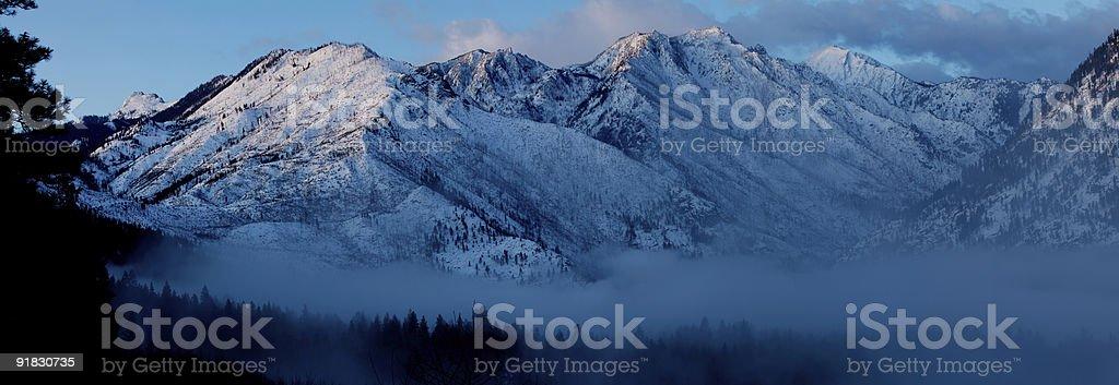 Morning Over Cascade Mountains stock photo