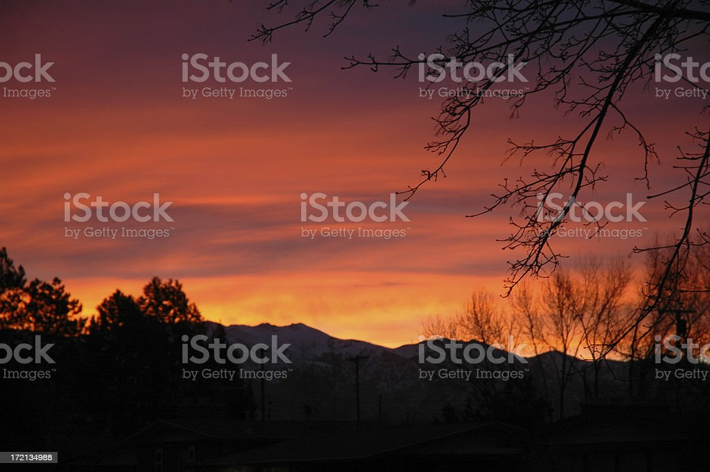 Morning over the Mountains stock photo