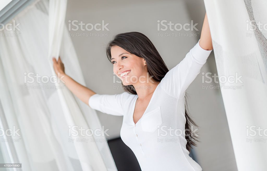Morning person stock photo