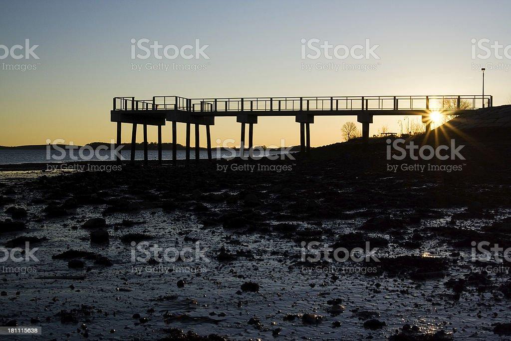 Morning pier stock photo