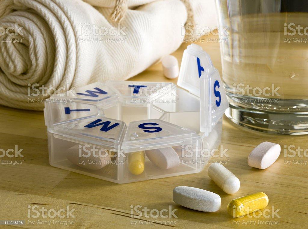 Morning Pills royalty-free stock photo