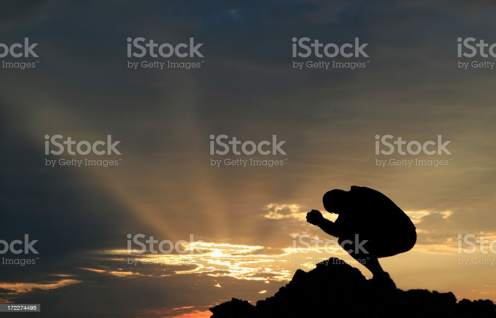 Morning Prayer 2 royalty-free stock photo