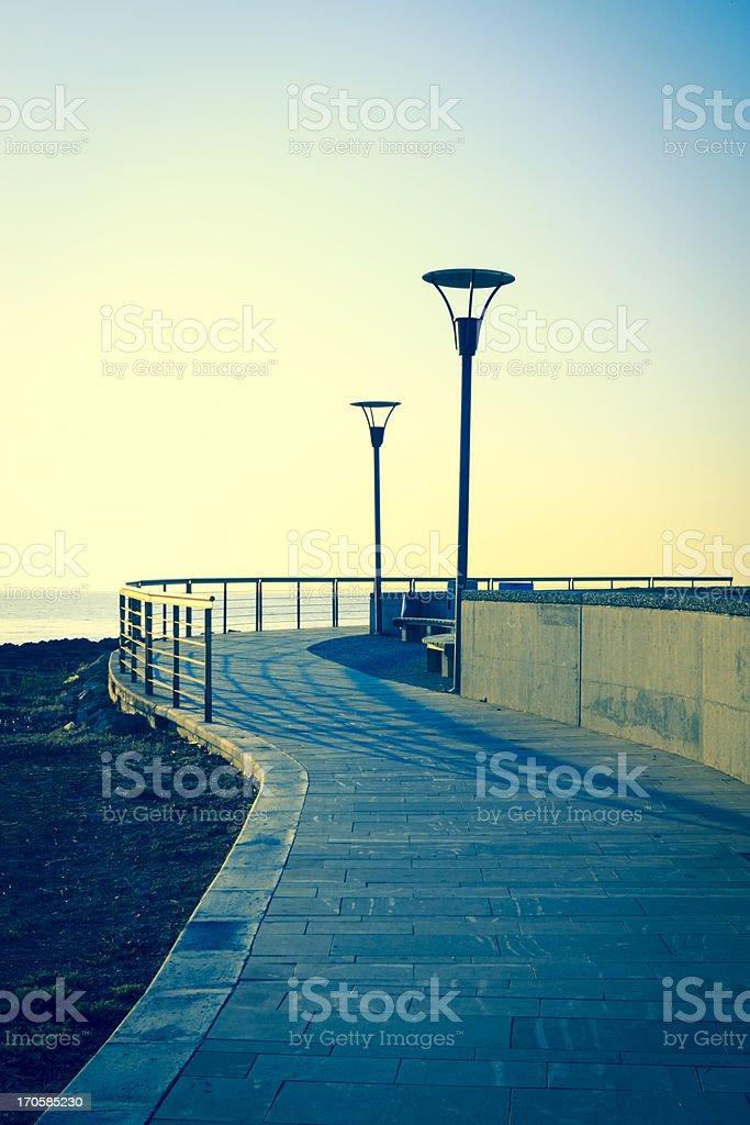 morning promenade stock photo