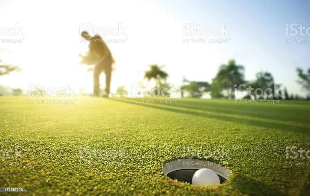Morning putt royalty-free stock photo