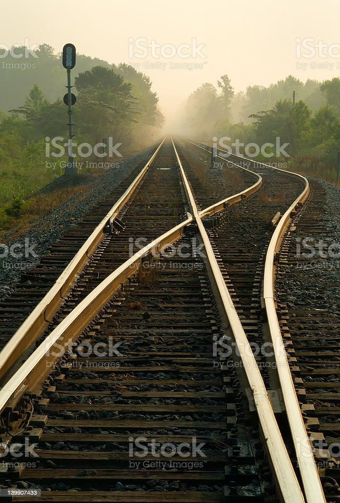 Morning Railway royalty-free stock photo