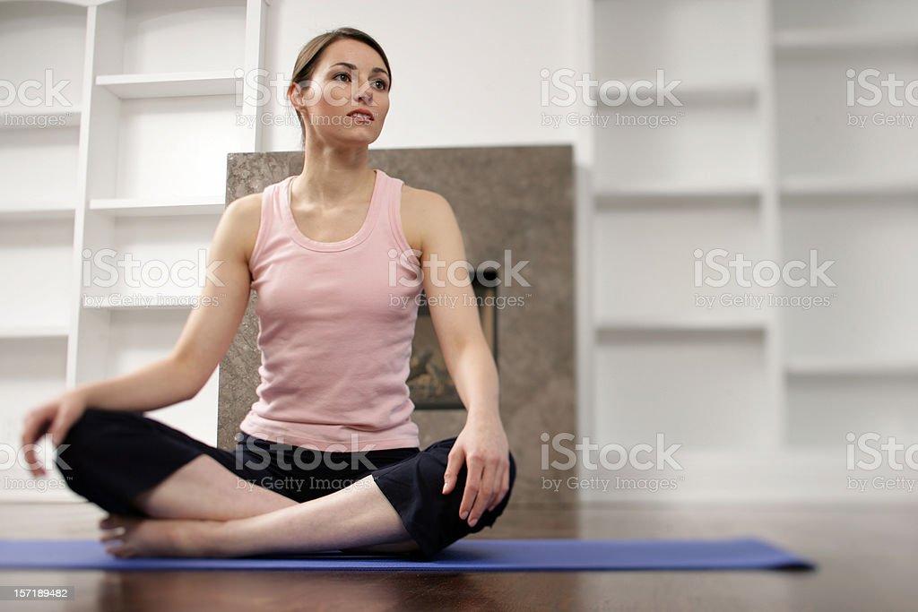 Morning Relaxation Exercise royalty-free stock photo