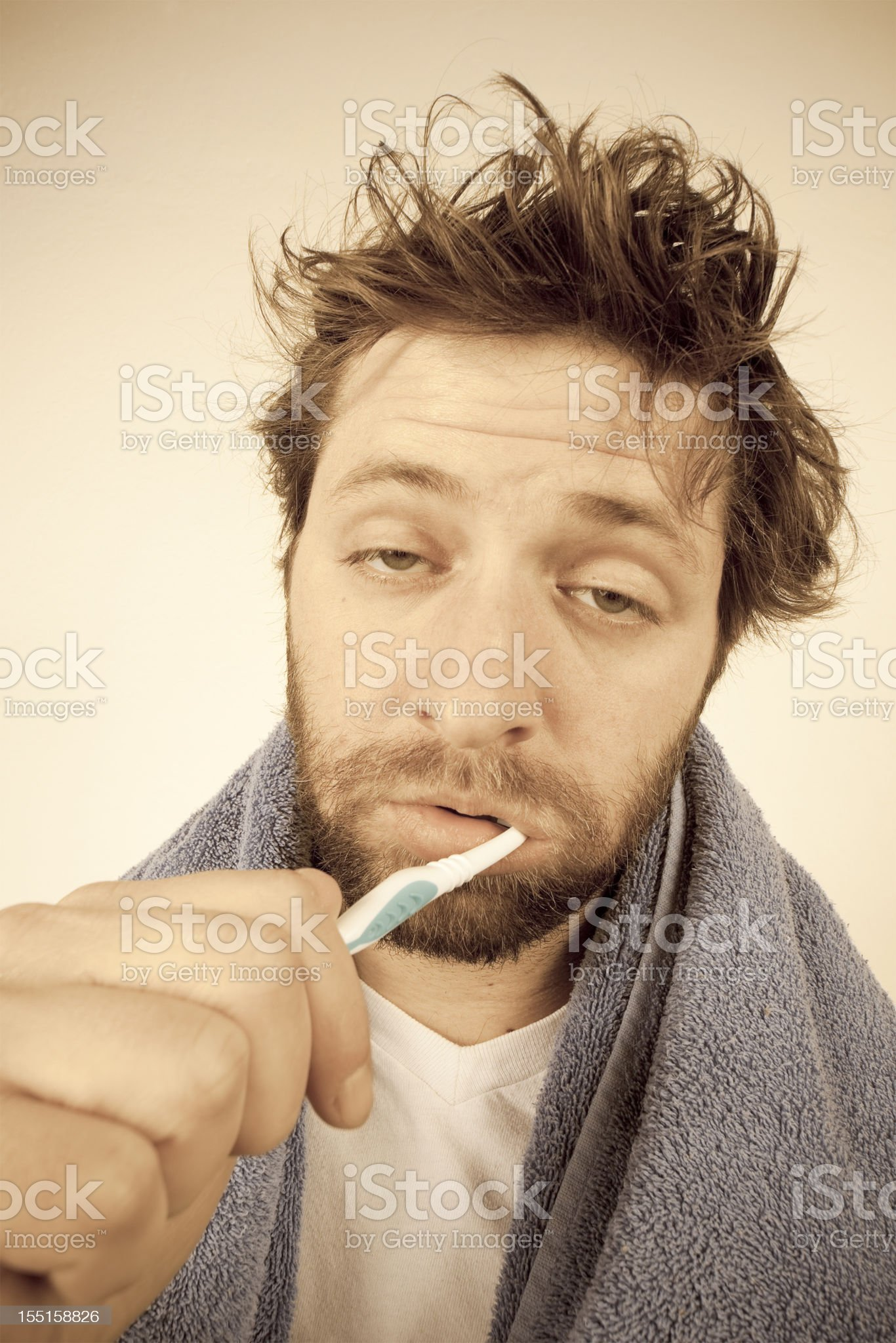 Morning Routine - Brush Your Teeth royalty-free stock photo
