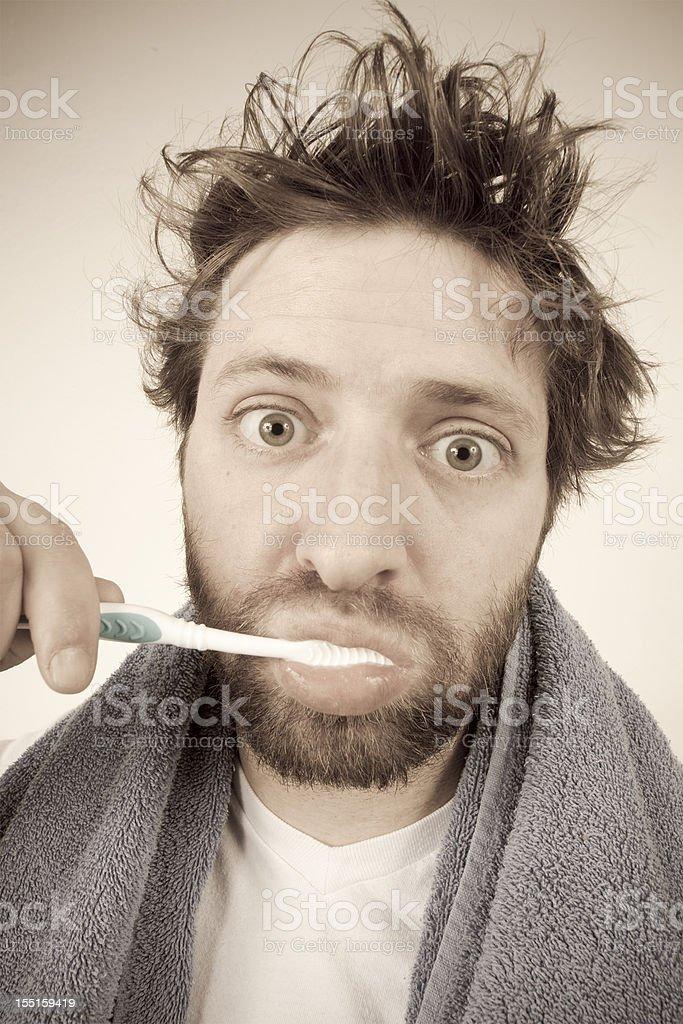 Morning Routine - Brushing Your Teeth royalty-free stock photo