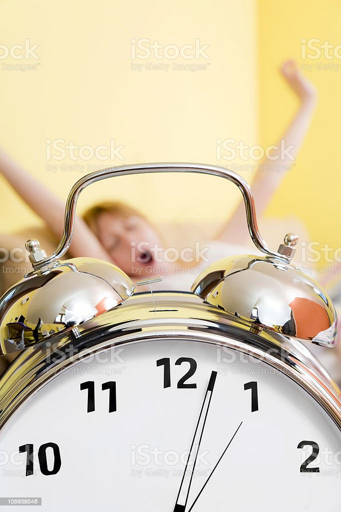 morning routine royalty-free stock photo