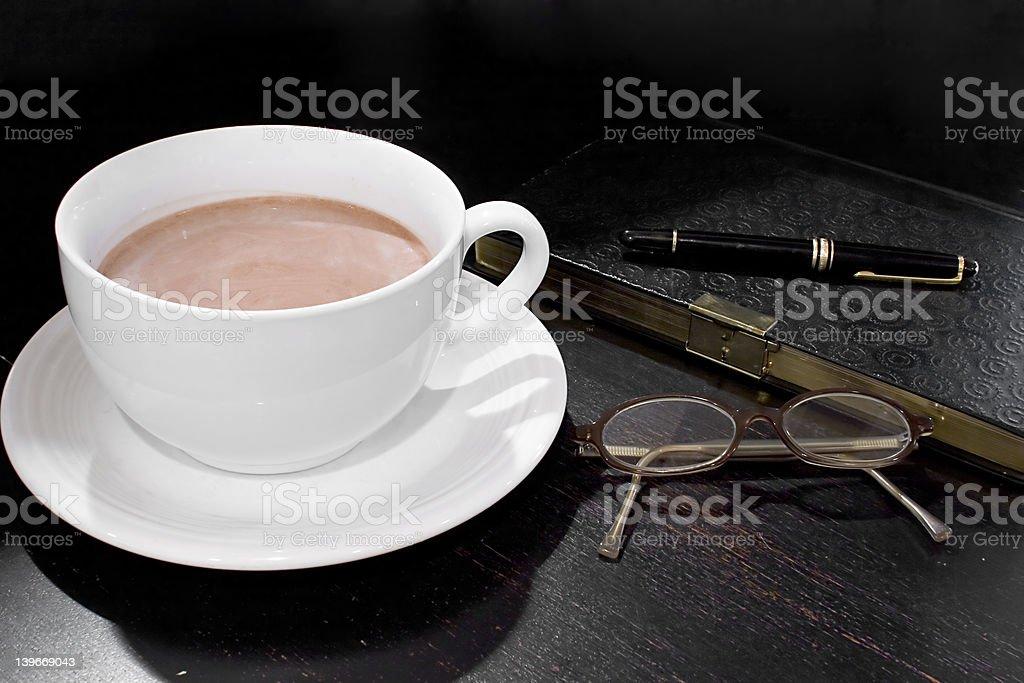 Morning routine royalty-free stock photo