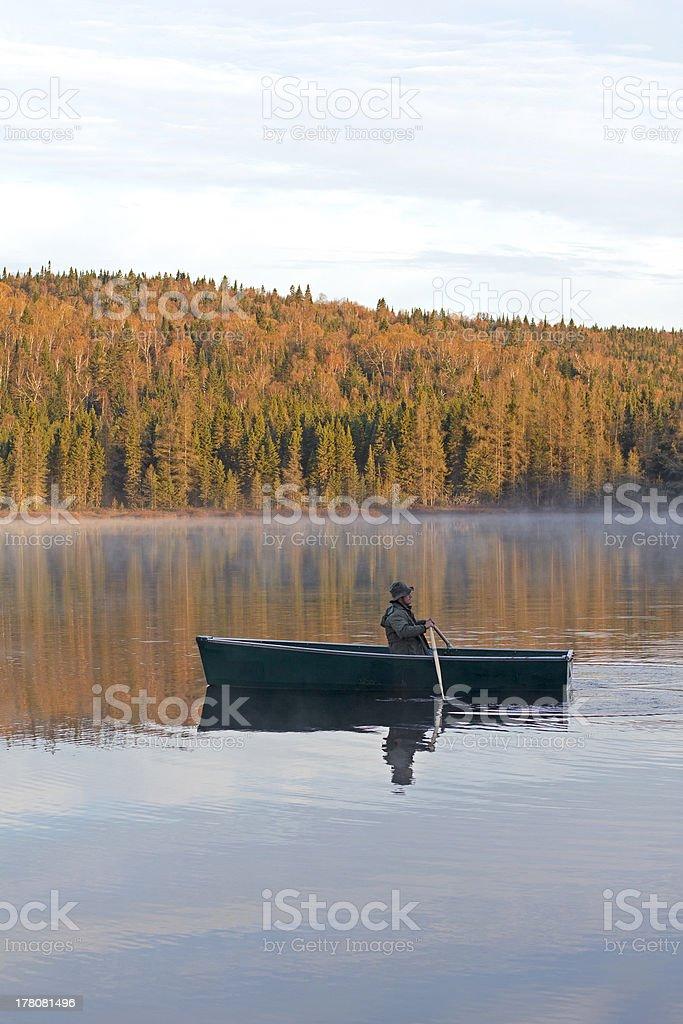 morning rowing royalty-free stock photo