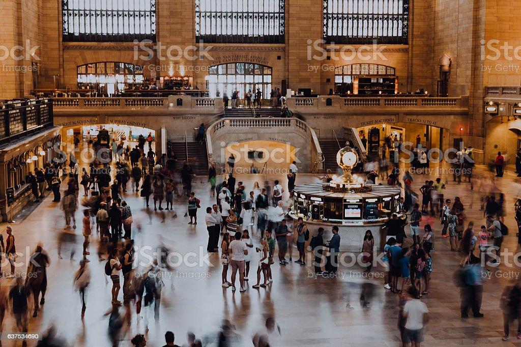 Morning Rush at Grand Central stock photo