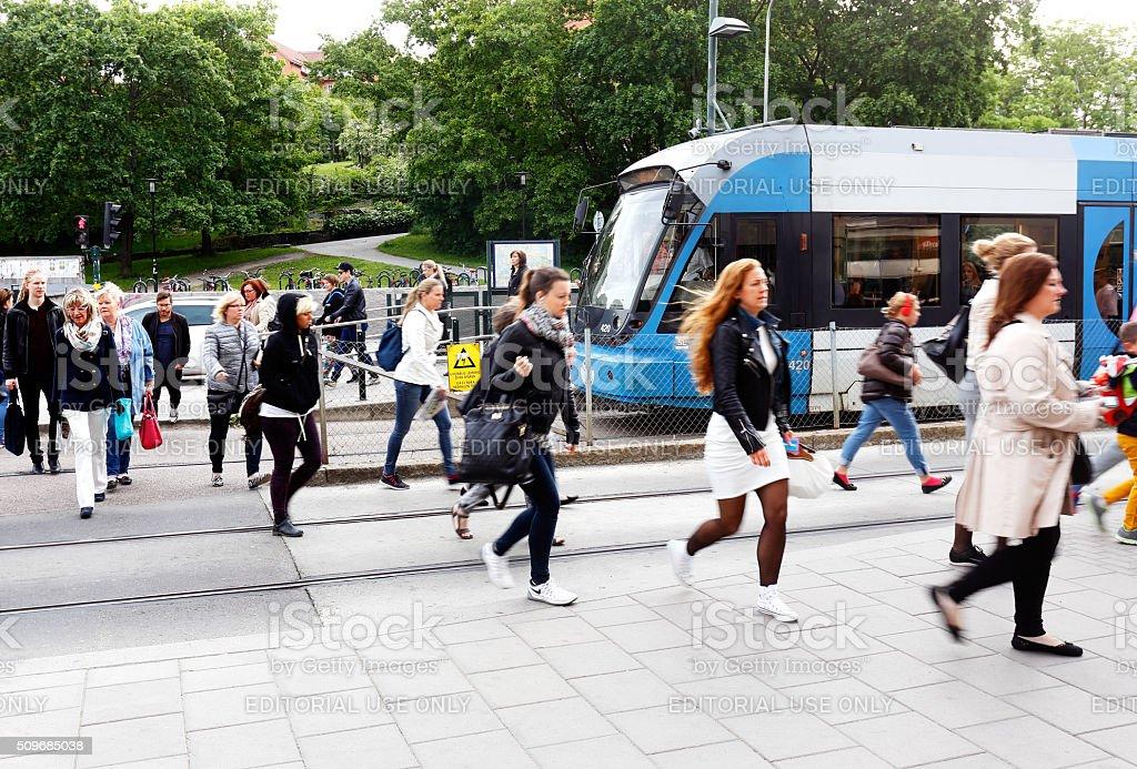 Morning rush stock photo