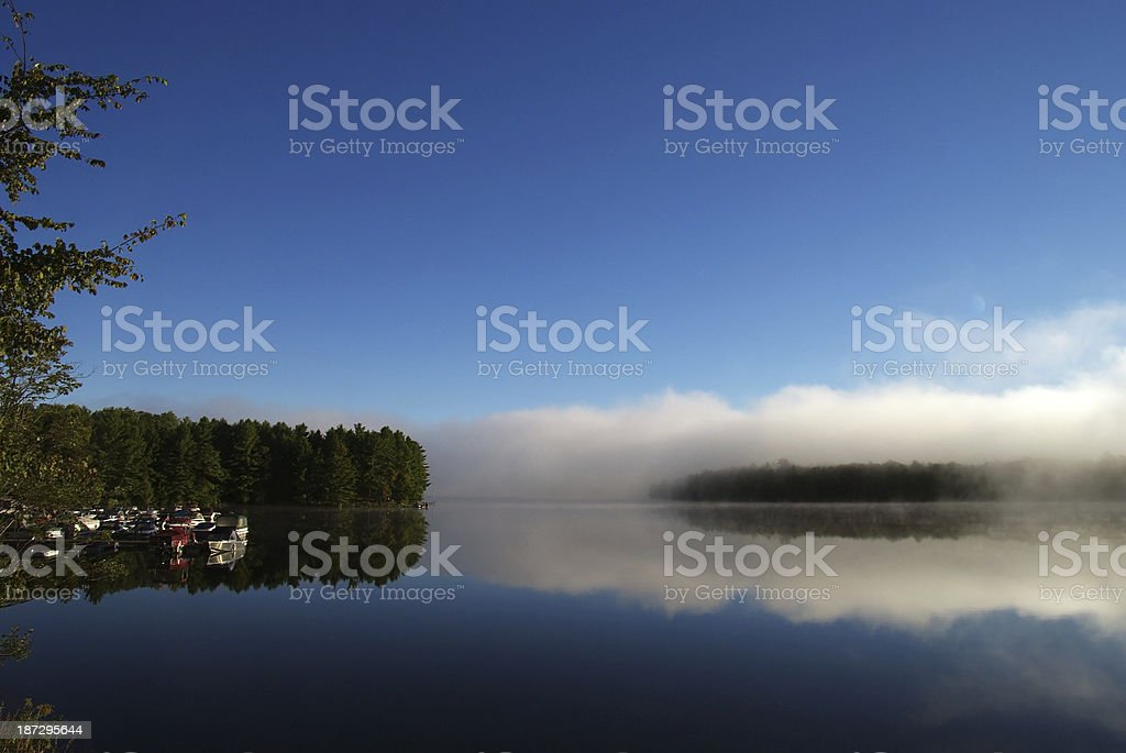 Morning scene in the Canadian Country royalty-free stock photo