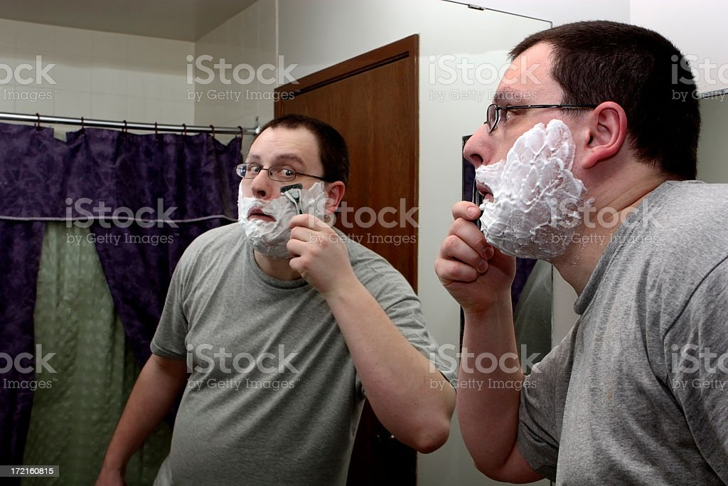 Morning Shave royalty-free stock photo
