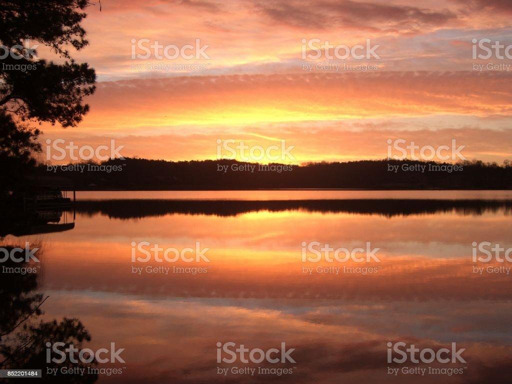 Morning shine stock photo