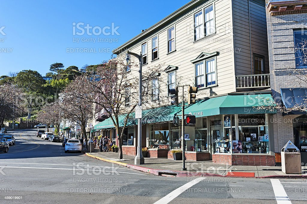 Morning Shoppers in Sausalito royalty-free stock photo