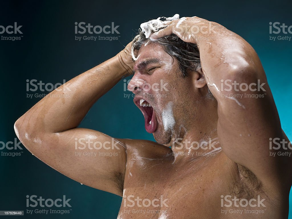 Morning shower royalty-free stock photo