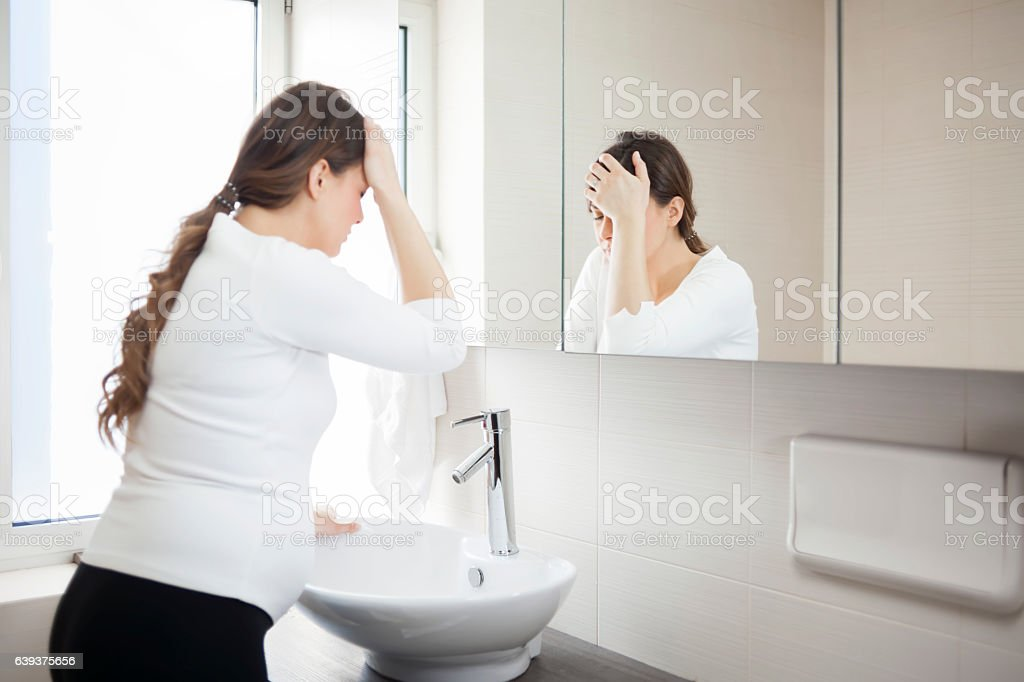 Morning sickness stock photo