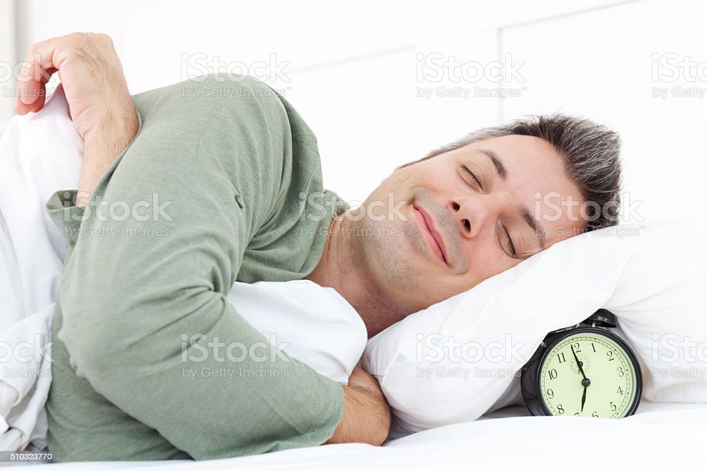 Morning snooze stock photo