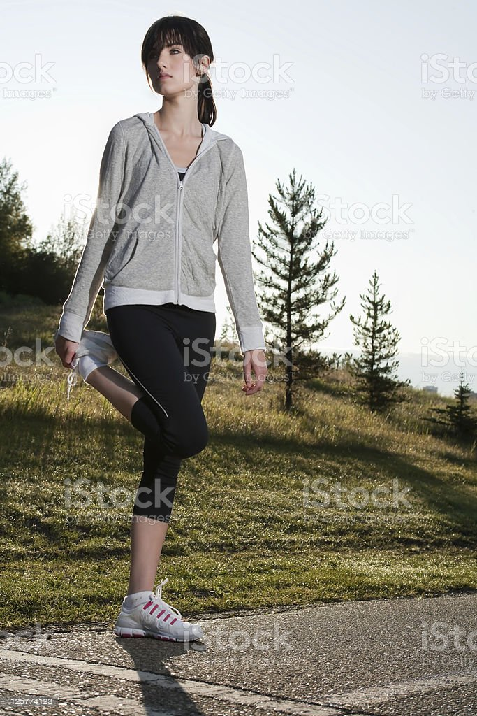 Morning stretch royalty-free stock photo